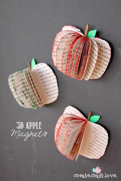 3D Apple Magnets