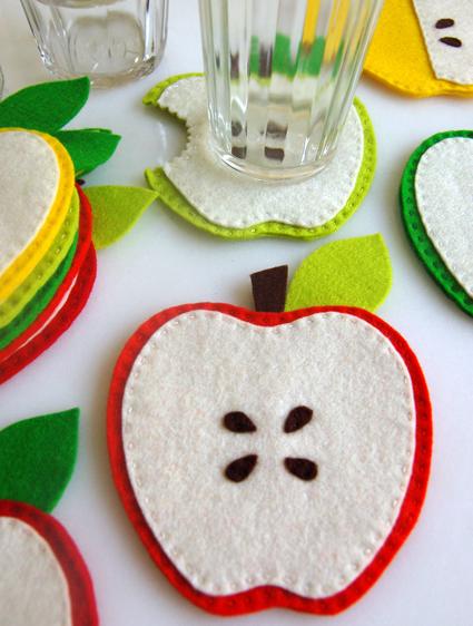 Felt Apple Coasters