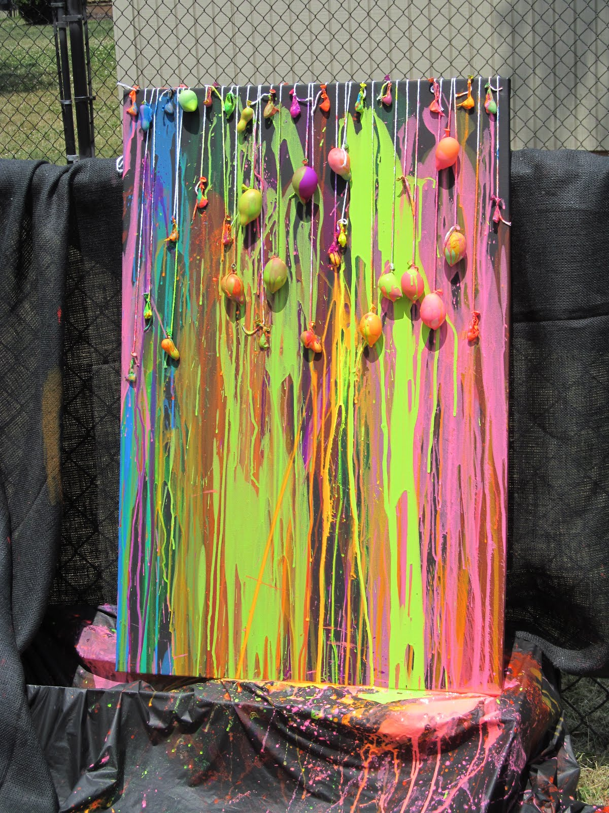Water Balloon Dart Painting