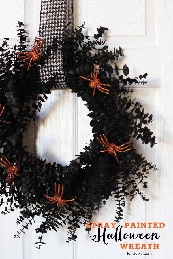 Spray Painted Halloween Wreath