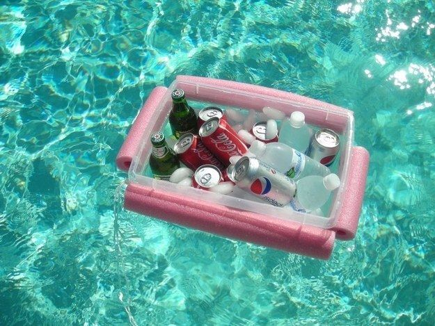 Pool Noodle Floating Cooler
