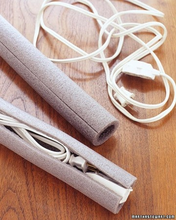 Pool Noodle Tidy Cords