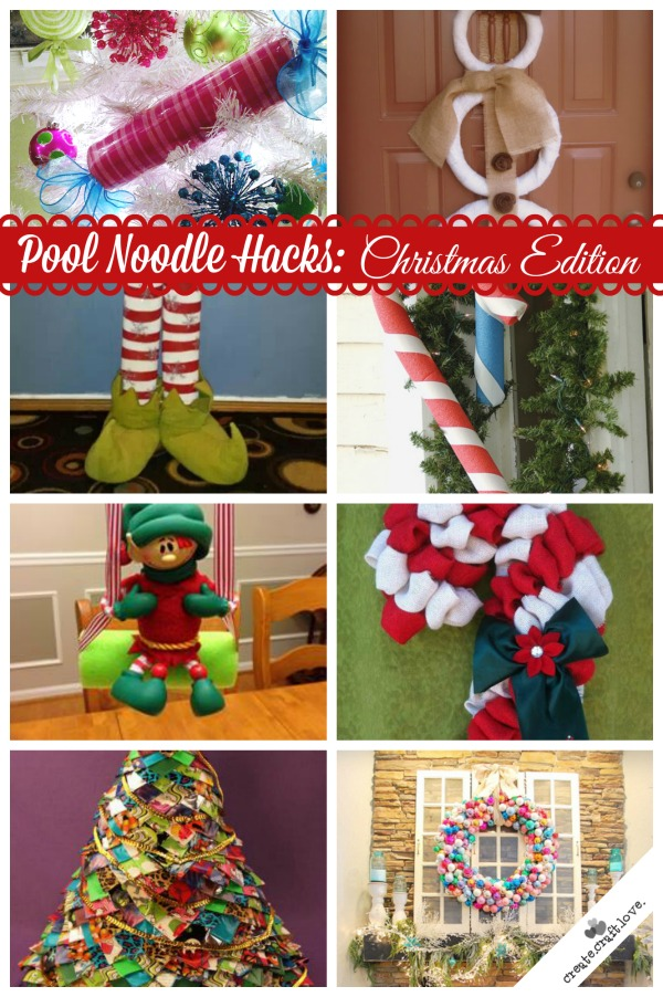 pool noodle hacks christmas edition - Christmas Pool Decorations