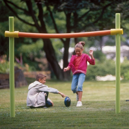 pool noodle backyard goal post