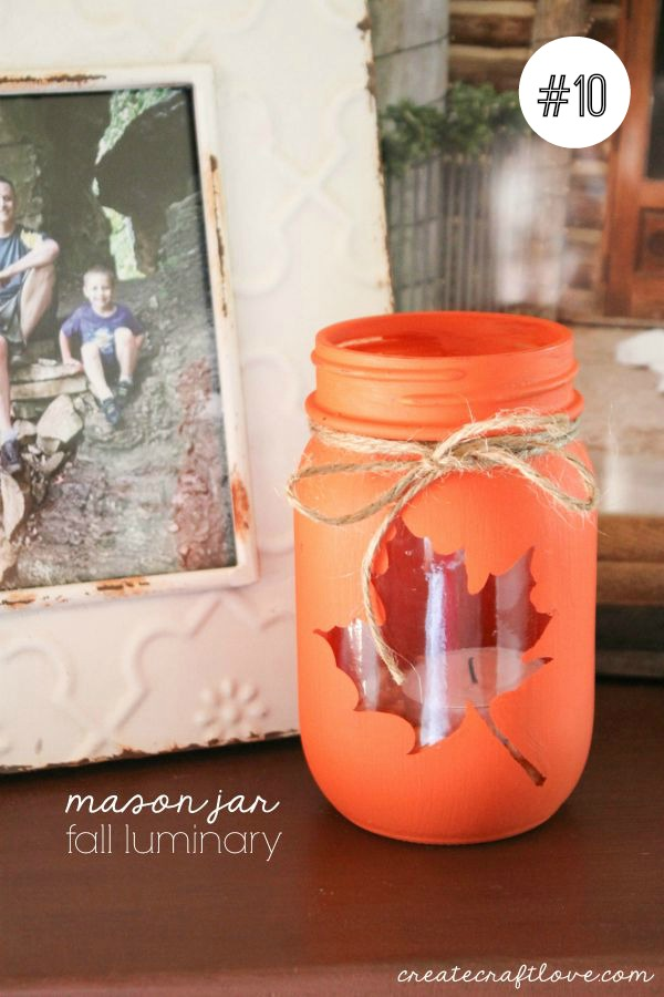 Mason Jar Fall Luminary