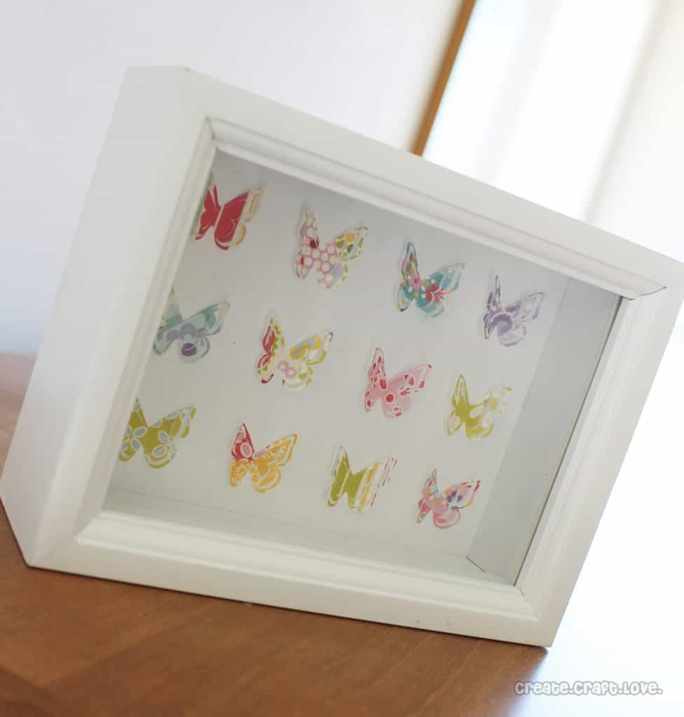 Butterfly Shadow Box via createcraftlove.com #butterfly #shadowbox #specimenart
