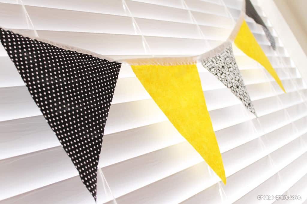 Fabric Bunting at createcraftlove.com #sewing #bunting