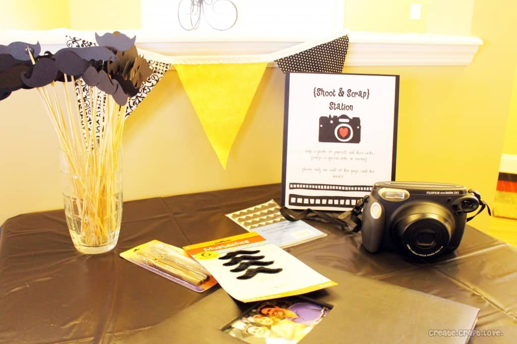 Create Your Own Shoot and Scrap Station at createcraftlove.com #partyideas
