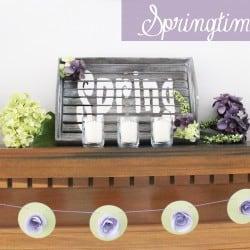 Springtime Mantel via createcraftlove.com #spring #mantel