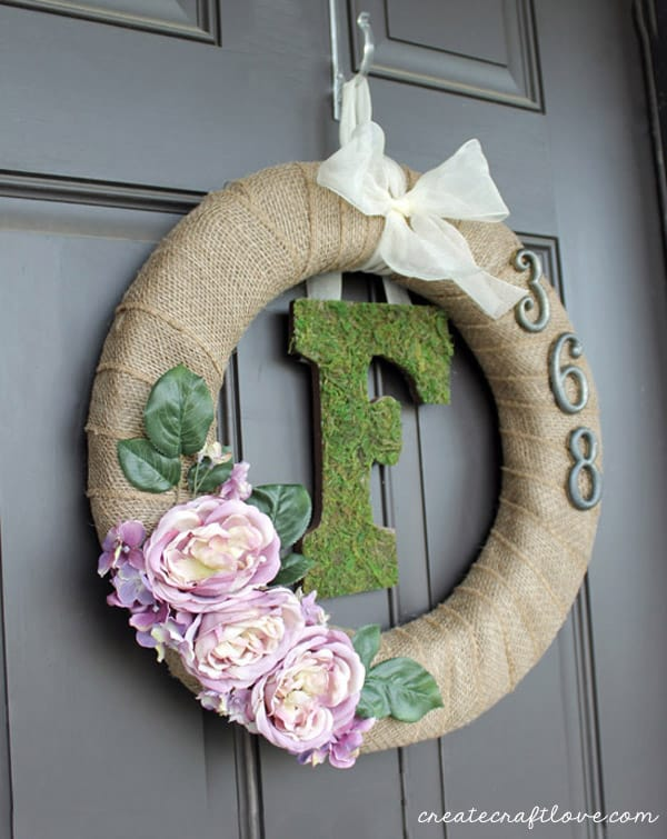 Moss Monogram Spring Wreath - simple and elegant!