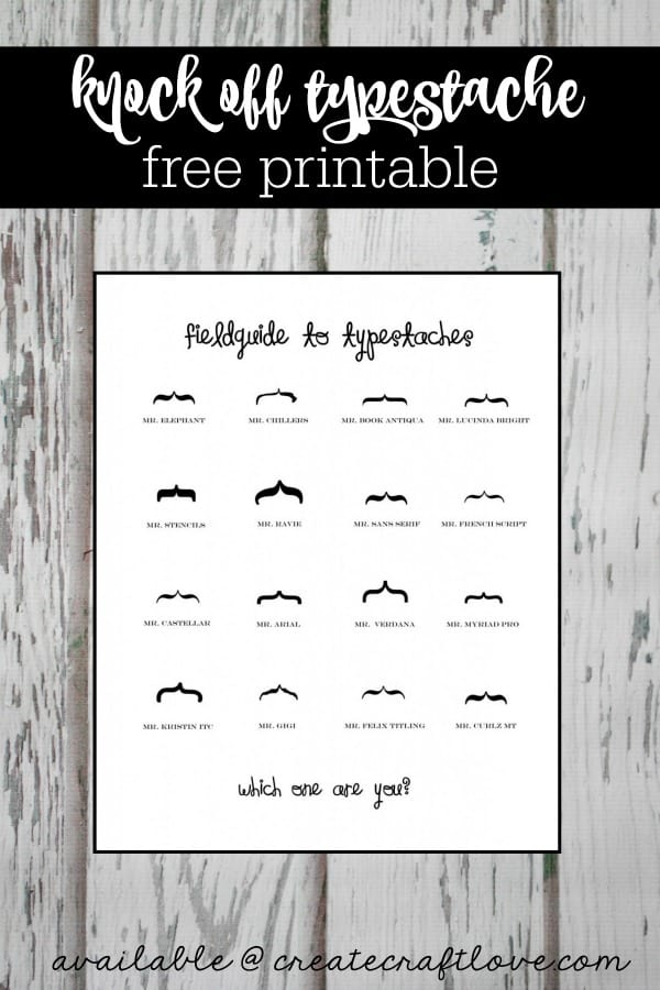 This Typestache Printable is super trendy and fun!