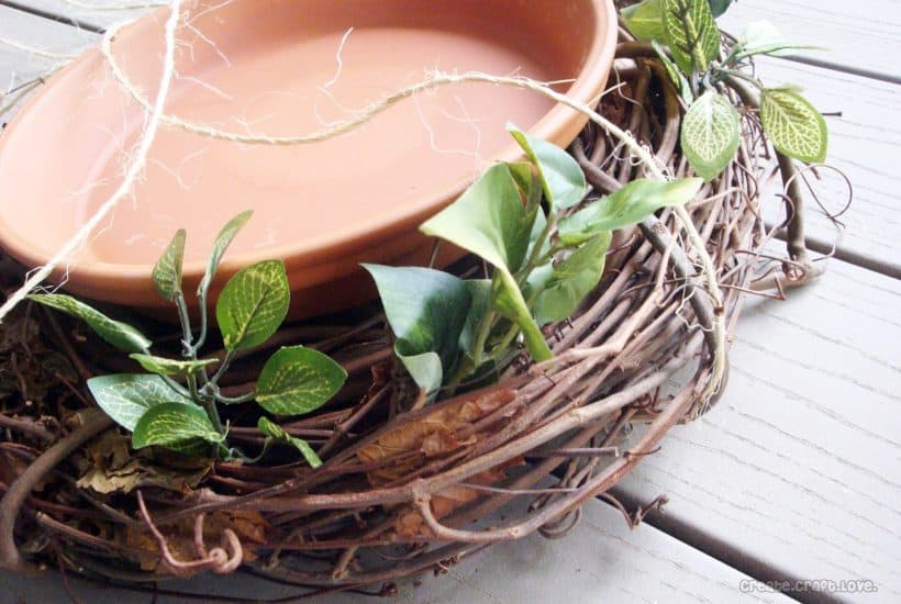 Earth Day Bird Bath at createcraftlove.com #birdbath