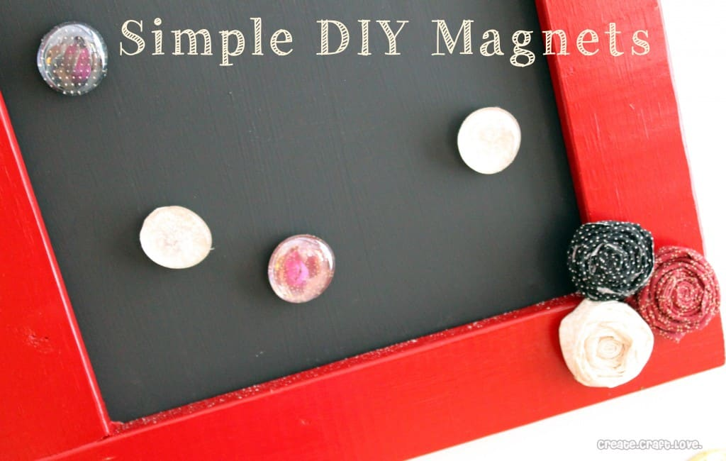 Simple DIY Magnets via createcraftlove.com #magnets