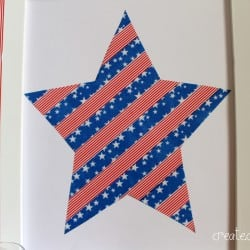 Stars and Stripes Washi Tape Art