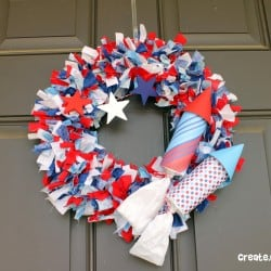 Firecracker Rag Wreath