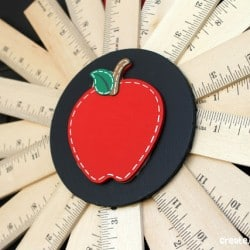 Back to School {Ruler} Wreath