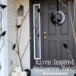 Raven Inspired Halloween Porch