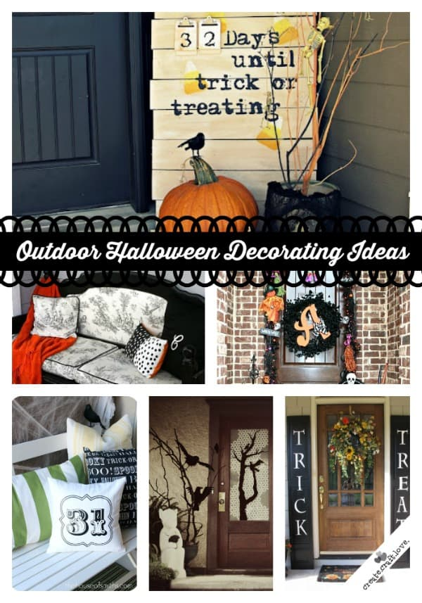 Outdoor Halloween Decorating Ideas via createcraftlovecom