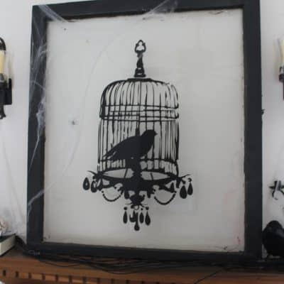 Antique Window {Raven} Decoration