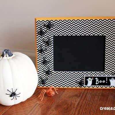 Washi Tape Halloween Frame
