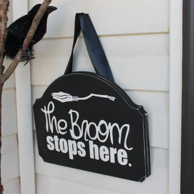 Handpainted Halloween Entry Sign