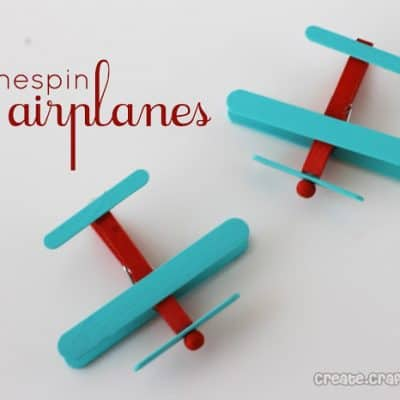 Clothespin Airplanes {Party Favors}