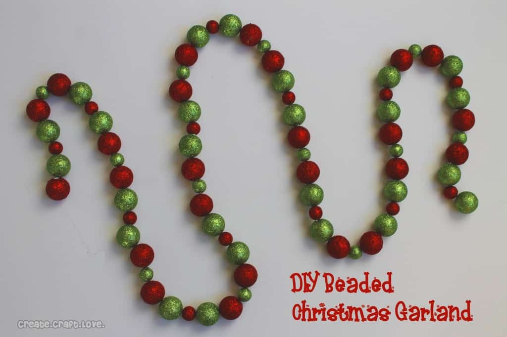 diy beaded christmas garland