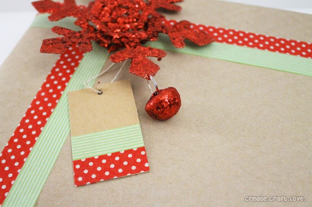 washi tape gift tags and wrap