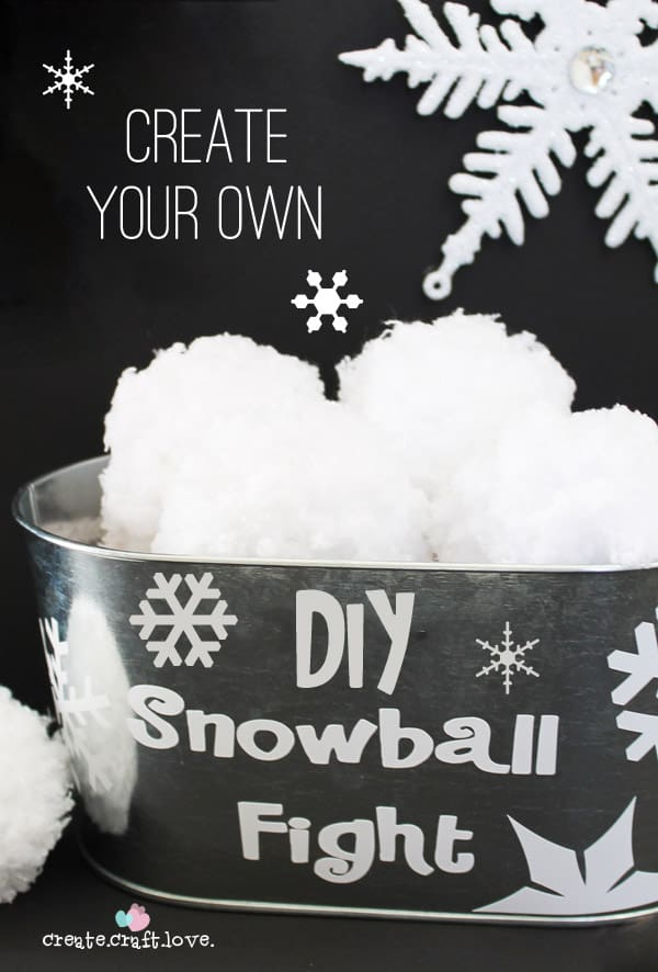 Create your own DIY Snowball FIght with just some yarn!! via createcraftlove.com