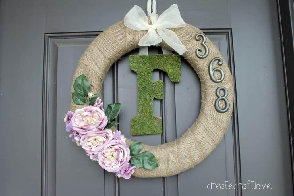 Moss Monogram Spring Wreath