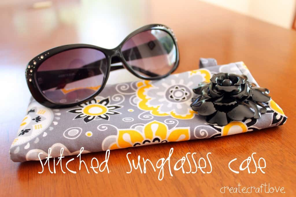 Stitched Sunglasses Case