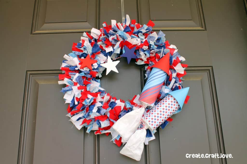 Firecracker Rag Wreath