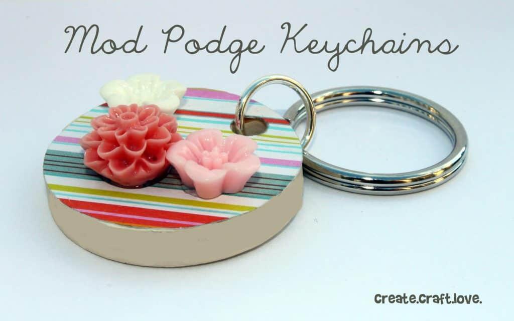Mod Podge Keychains