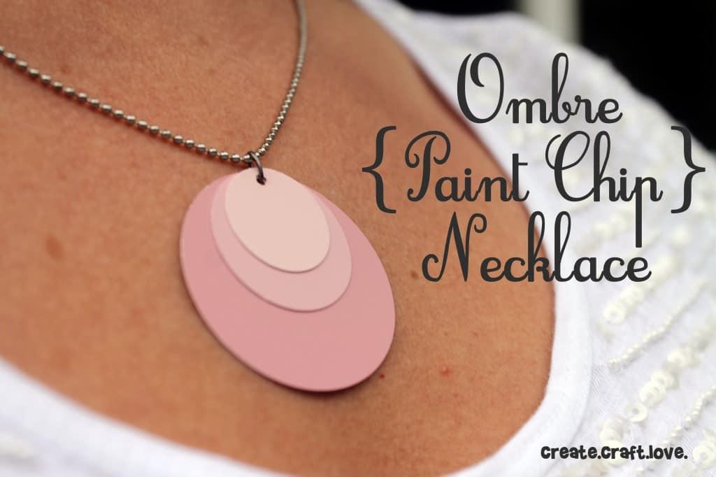 Ombre Paint Chip Necklace
