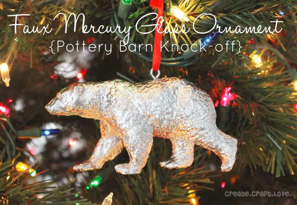 faux mercury glass ornament