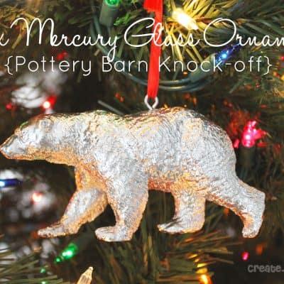 Faux Mercury Glass Ornament {PB Knockoff}