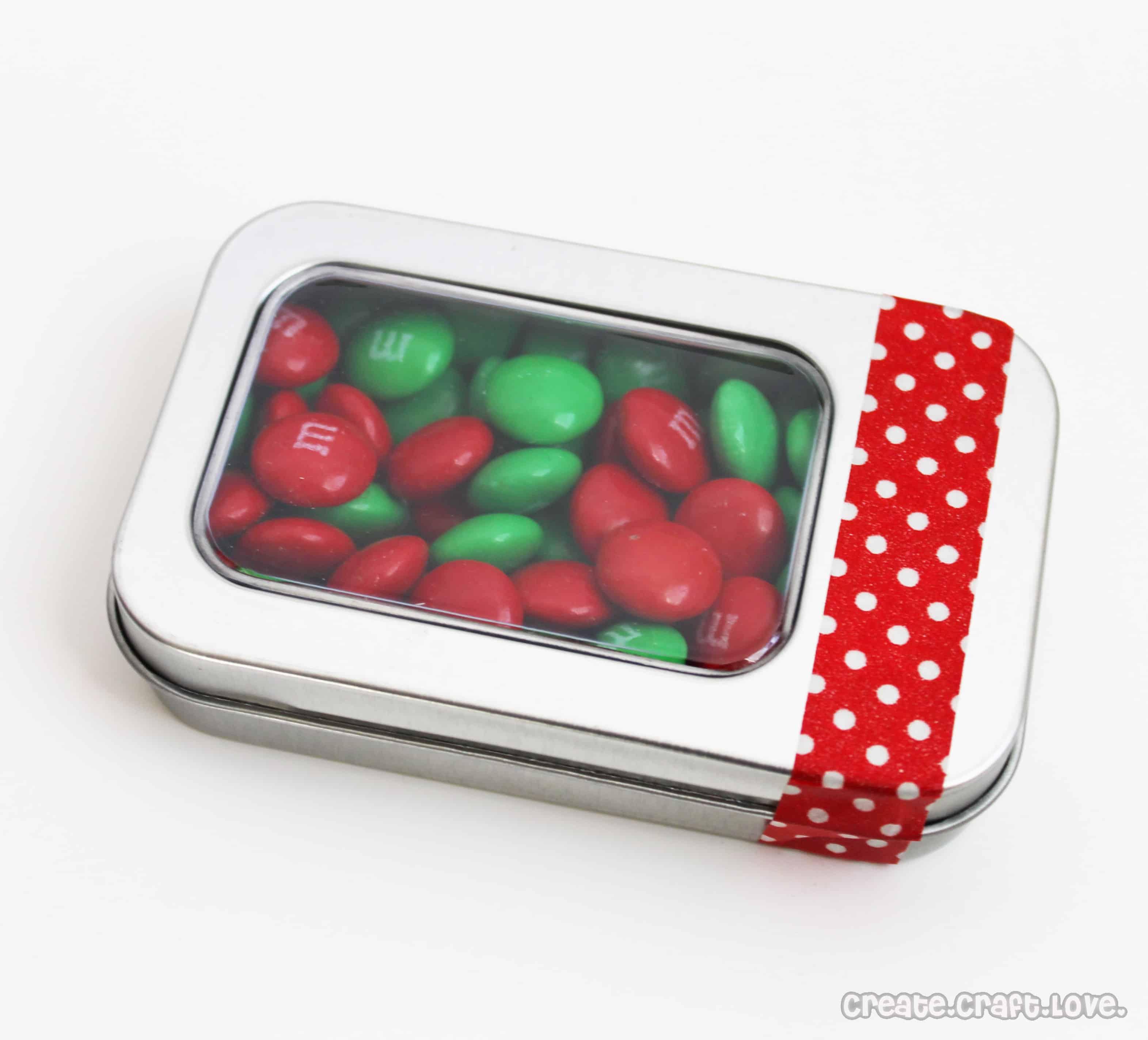 Candy Tin Gift Card Holder