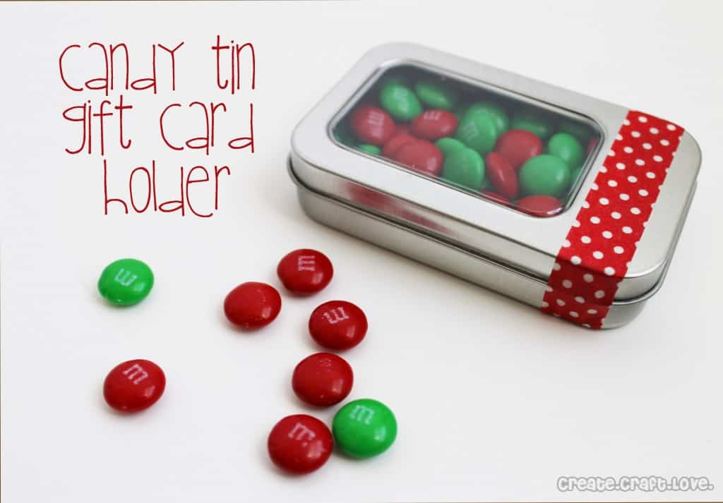 candy tin gift card holder