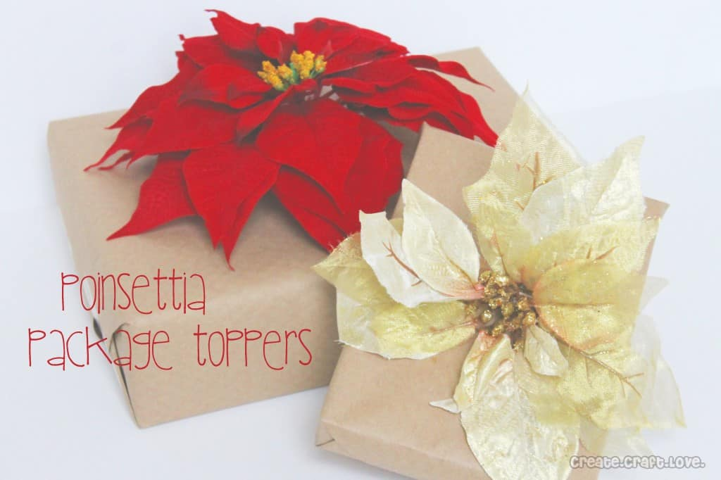 poinsettia package topper