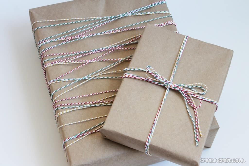 baker's twine gift wrap