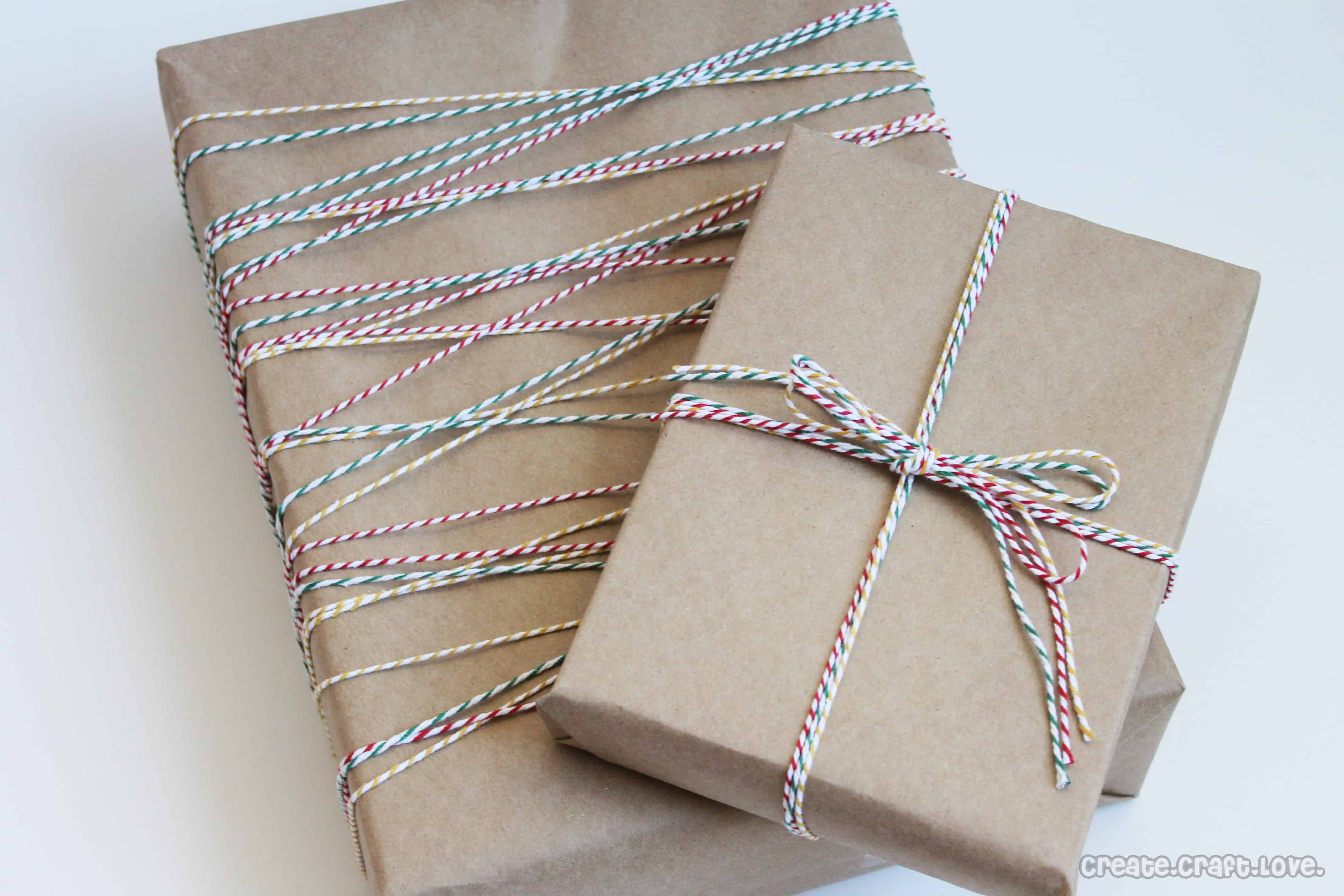 Bakers twine gift wrap negle Images