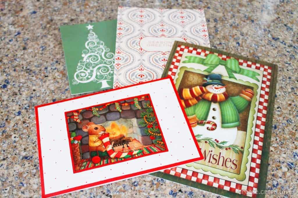 upcycled christmas card gift tags