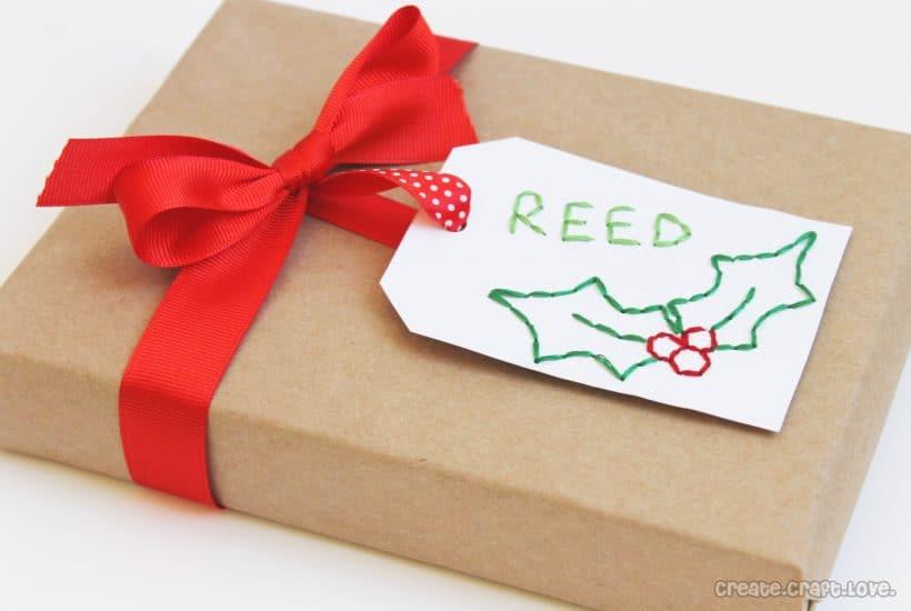 hand sewn gift tags