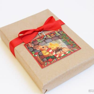 old christmas card gift tags