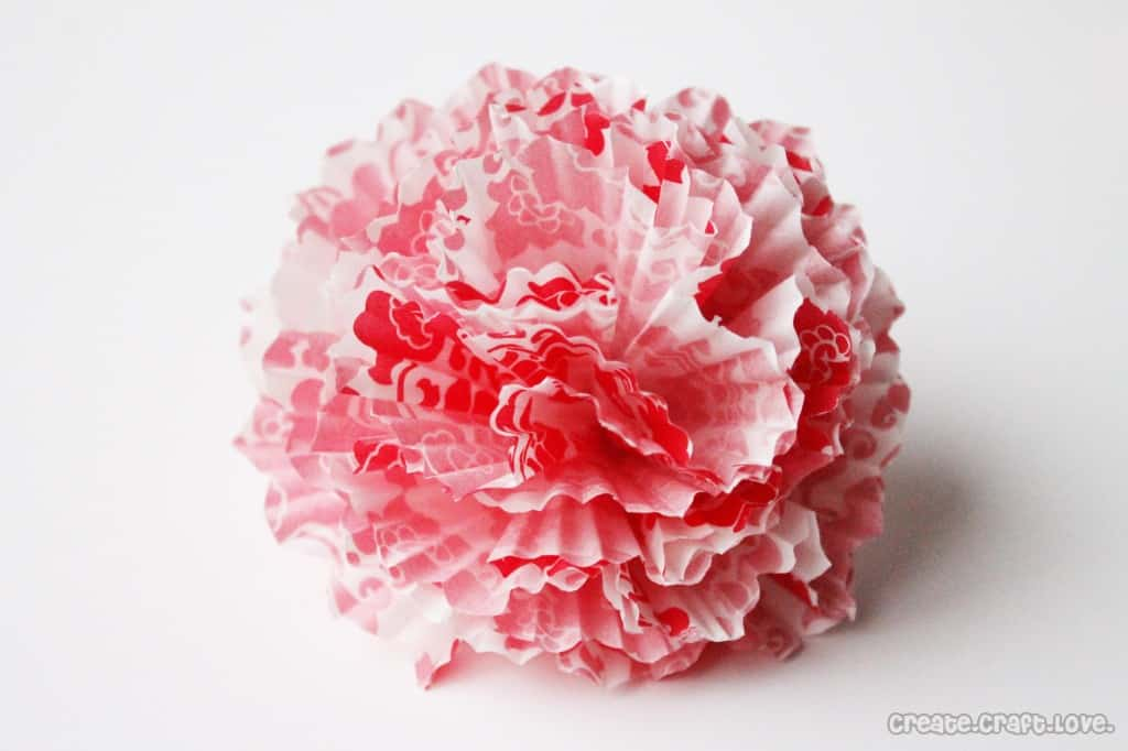 cupcake liner bow