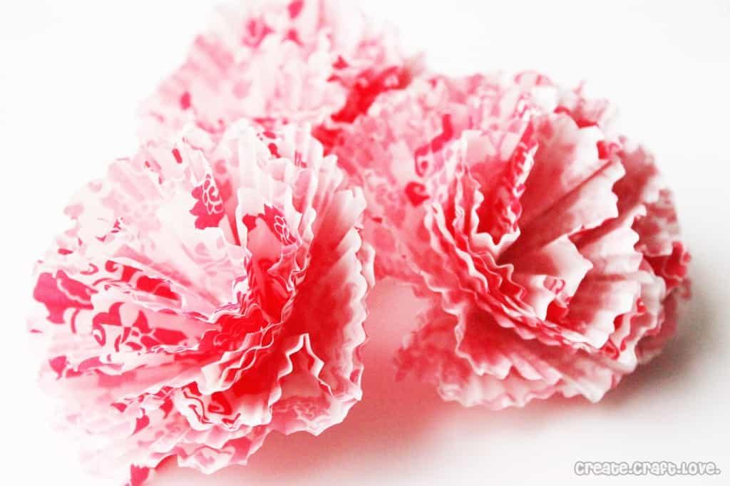 large cupcake liner bows