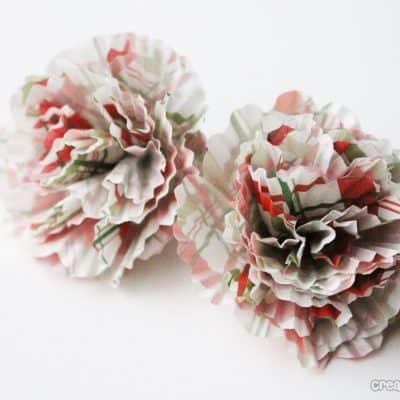 small cupcake liner bows