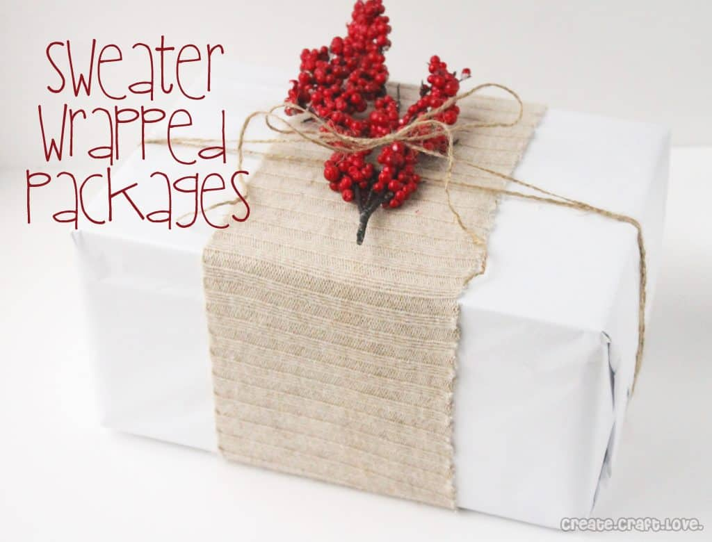 sweater wrapped packages