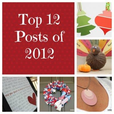 Top 12 Posts of 2012