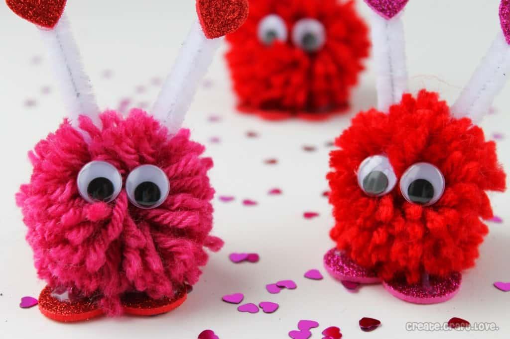 Valentine Pom Monsters